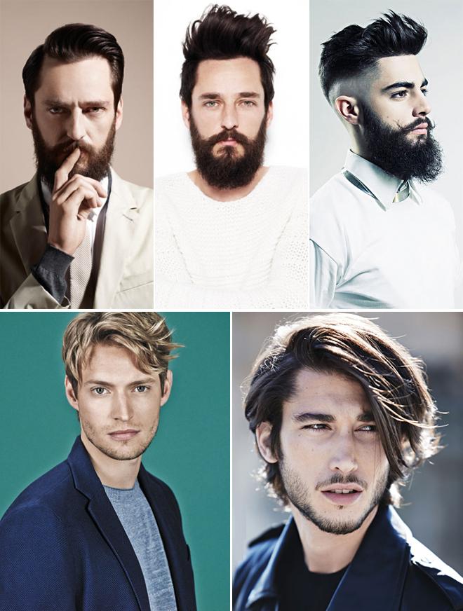 Мужские стильные прически с бородой