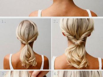 Как успеть сделать прическу за 5 минут на средние волосы?