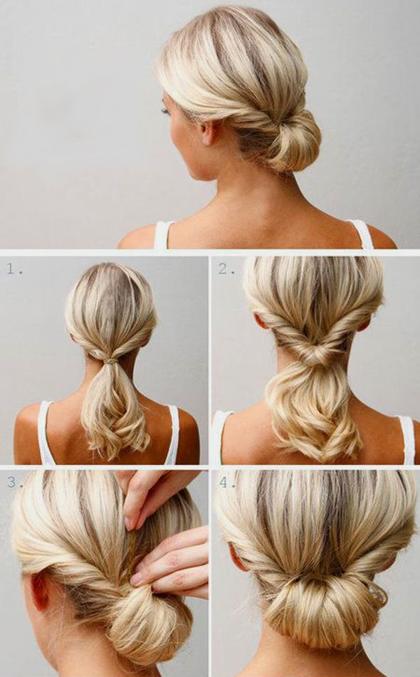 Прическа на волос средней длины своими руками
