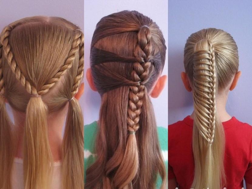 Детские прически для праздника на длинные волосы