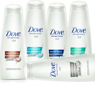 Виды и состав шампуня Дав (Dove)