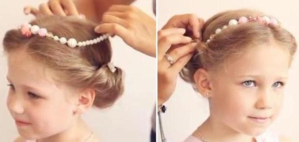 Греческий стиль для девочки
