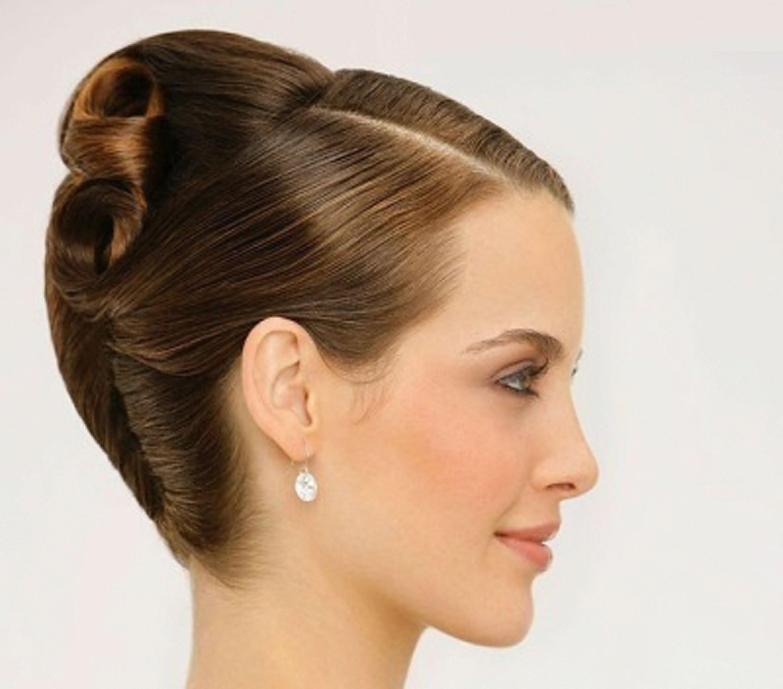 Ракушка на средние волосы