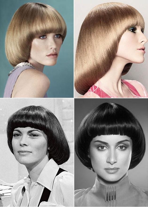 Женская стрижка паж на средние волосы