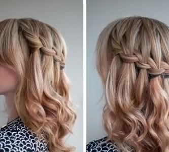 Обзор причесок на распущенные волосы средней длины