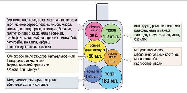 Принципиальный состав шампуня