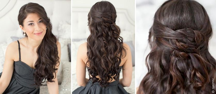 Закрепление длинных волос