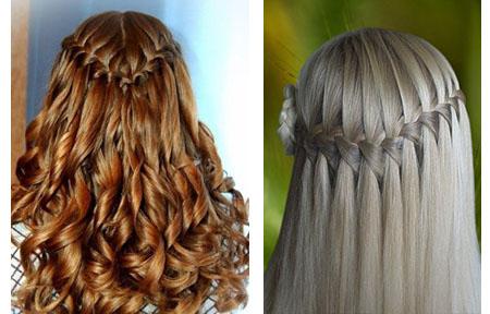 Как сделать прическу коса французский водопад6