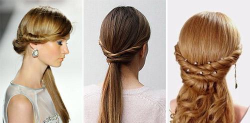 причёски с хвостами