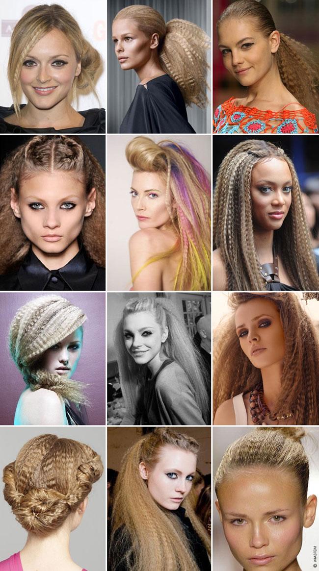 Интересные прически с средними волосами
