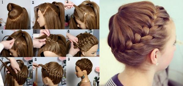 Как плести корзинку из волос пошаговая инструкция