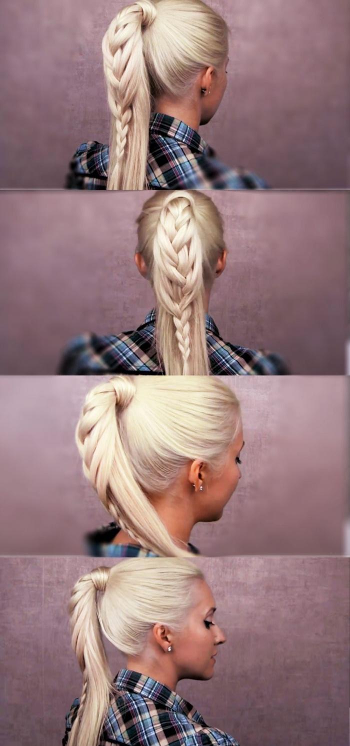 Как сделать косу хвостиками