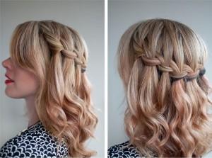 Стрижка на средние волосы водопад