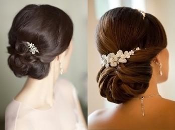 Идеи для собранных свадебных причесок