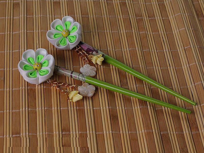 Как сделать китайские цветы 378