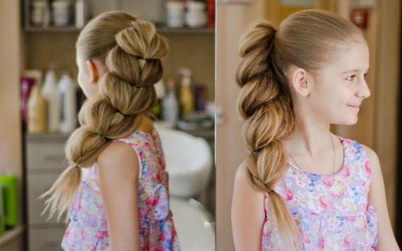 Прически для длинных волос своими руками для детей 24
