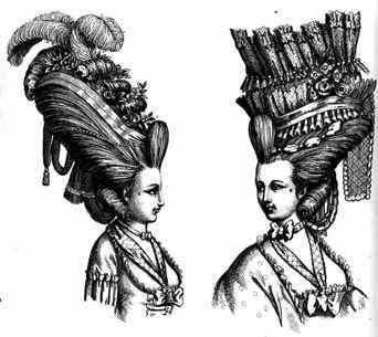 Сложные прически 18-го века