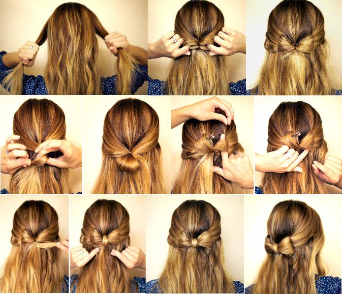Бантики на волосы своими руками