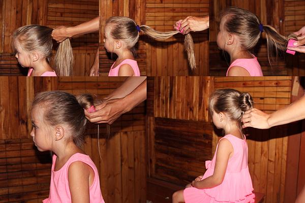 Как сделать пучок девочке на гимнастику