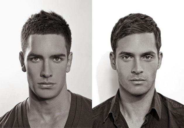 Прическа на бок на средние волосы у мужчин