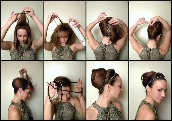 Как сделать нарядную прическу себе