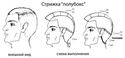 Прическа схема мужской