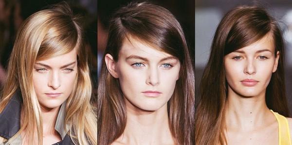Длинные волосы с боковым пробором