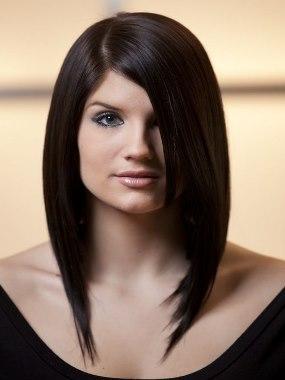 Стрижки на редкие средние волосы круглое лицо