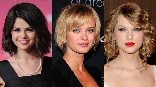 Причёски на средние волосы на круглое лицо