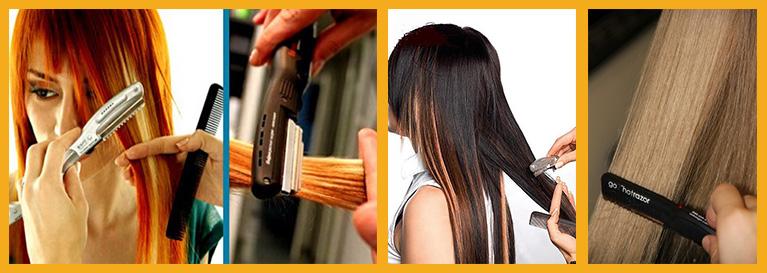 Горячие ножницы для волос в домашних условиях