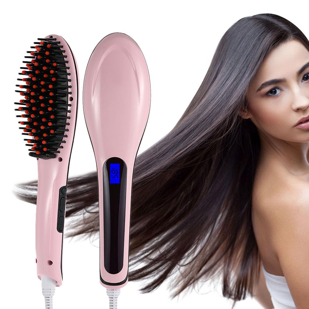 Выпрямление волос с помощью Fast Hair Straightener