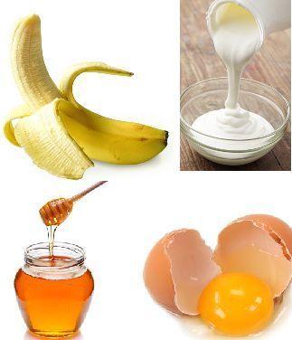 Продукты для банановой маски