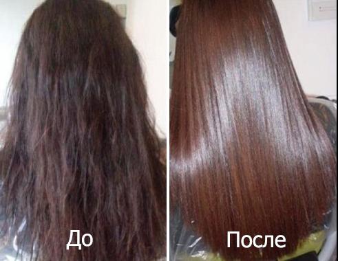 До и после применения масла