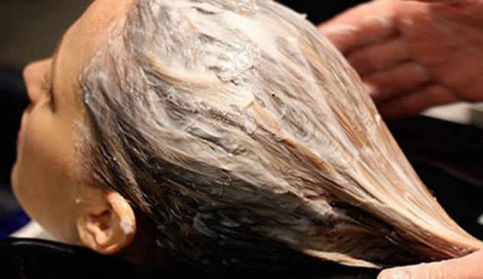 Как осветлить волосы кефиром до и после