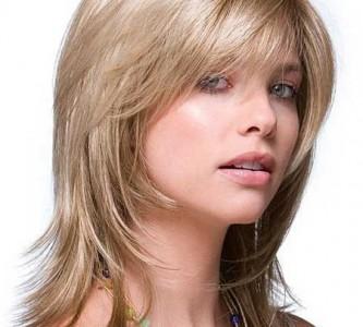 Создаем укладку на средних волосах с челкой