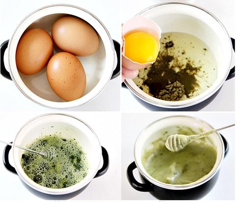 Маска с яйцом и чаем