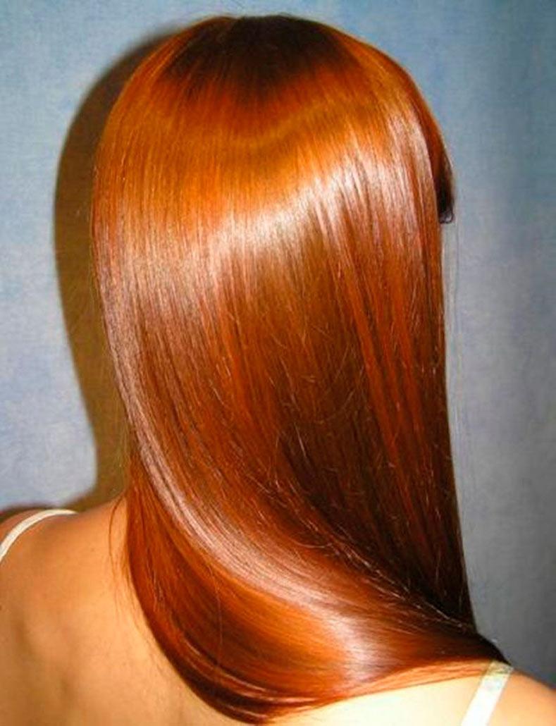 Блестящие волосы после ламинирования