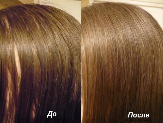 До и после сухого шампуня