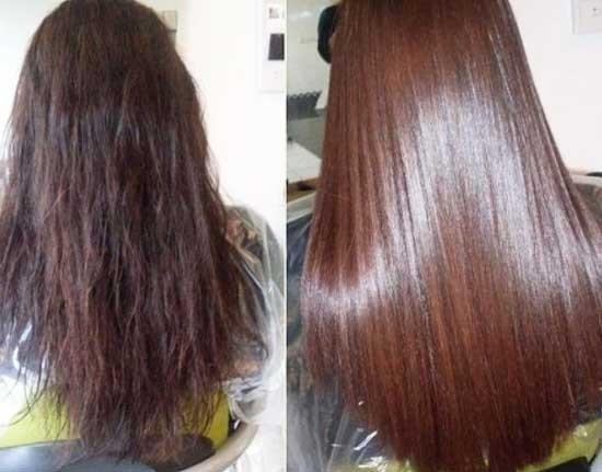 Отличие в состоянии волос