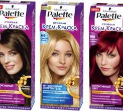 Многообразие палитры красок для волос Палет