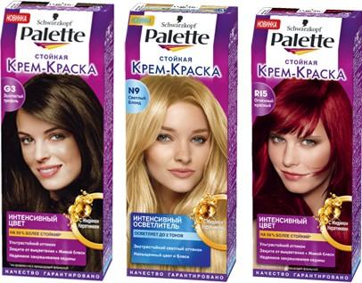 Краска палет цвета палитра для волос