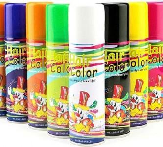 Окрашивание спрей-краской для волос