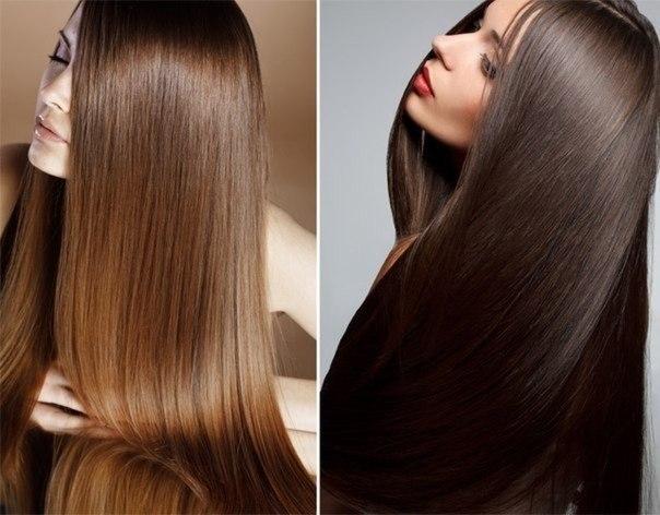 Роскошные волосы после выпрямления