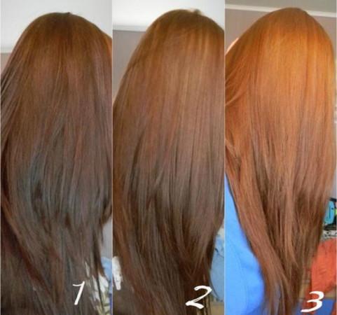 Волосы после смывок