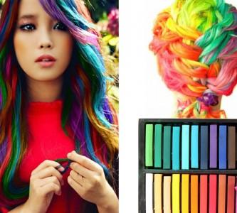 Красим волосы мелками для волос
