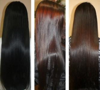 Смываем черную краску с волос