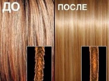 Процедура коллагенового восстановления волос