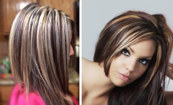 Мелирование темных волос