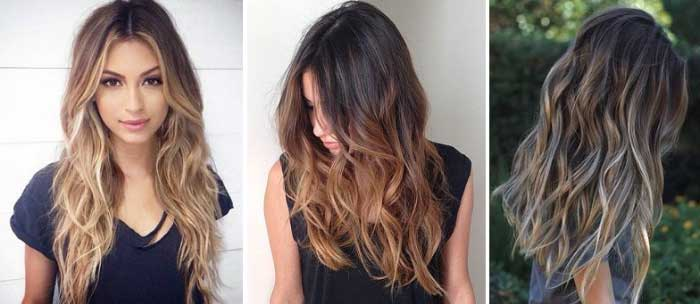 Балаяж на средние волосы