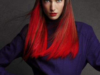 Преображающее окрашивание волос в два цвета